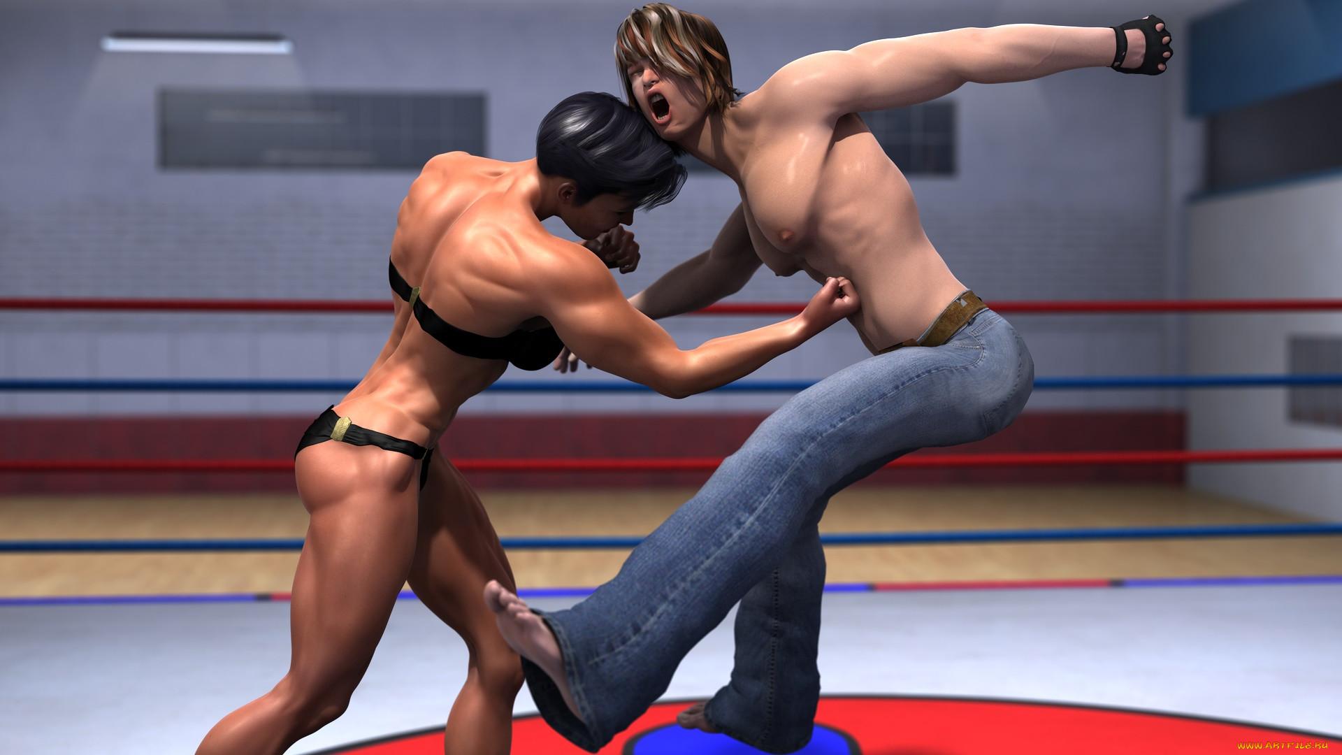 fighting Women naked